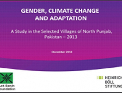 Gender, Climate Change and adaptation